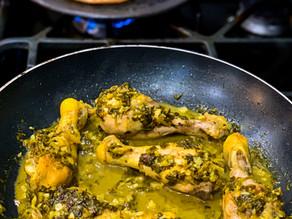 Madhur Jaffrey's Lemony Coriander Chicken