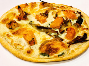 White Pizza with Caramelized Onions & Butternut Squash