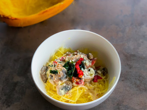 Homemade Spaghetti Squash with Sun-dried Tomatoes | Recipe for Spaghetti Squash