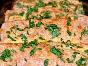 Veggie Enchiladas in a Habanero Cream