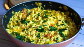 Vegan Masala Tofu Scramble Recipe   Tofu Bhurji