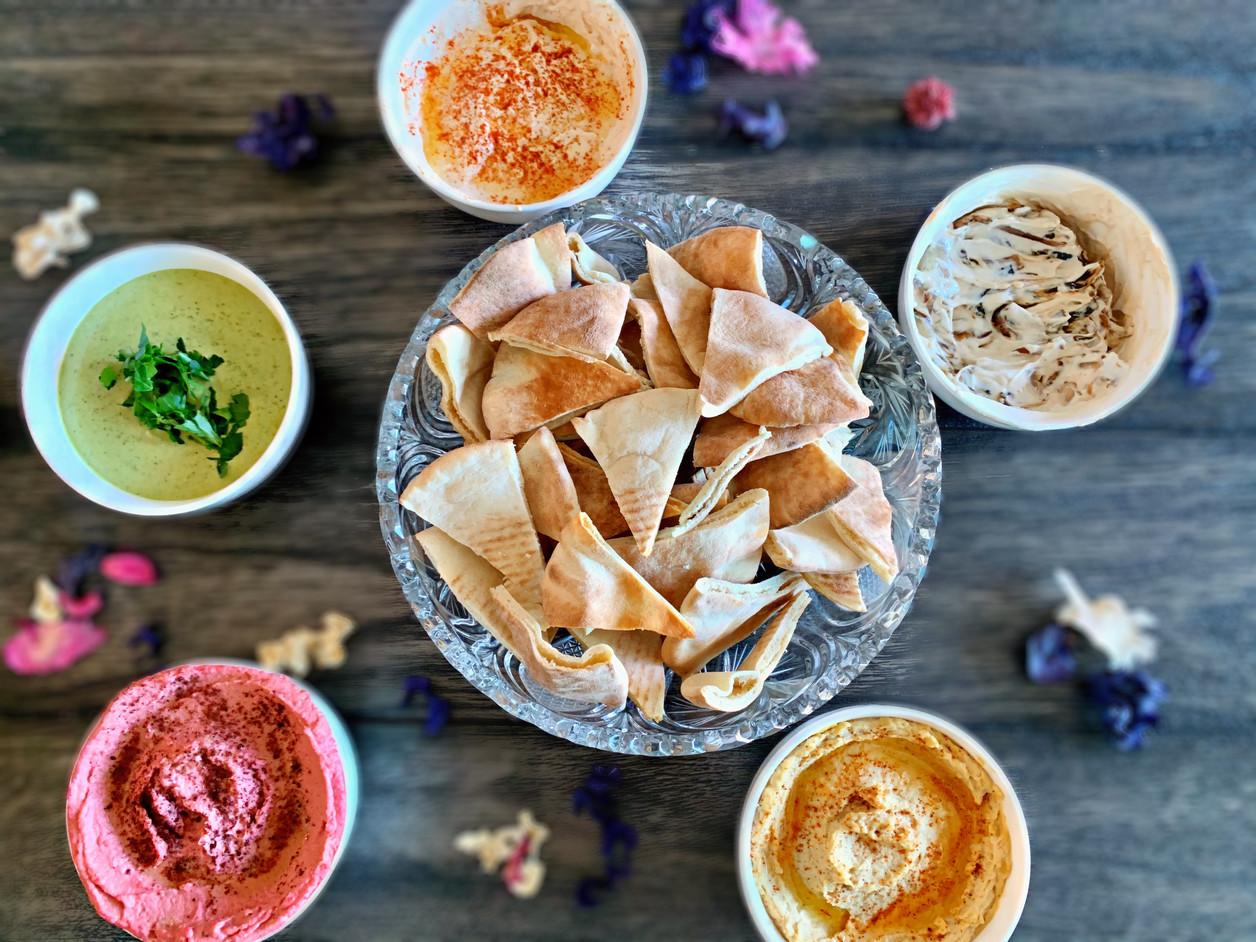 Pita Bread & Homemade Dips