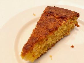 Polenta, Lemon, Honey, Saffron & Cardamom Cake