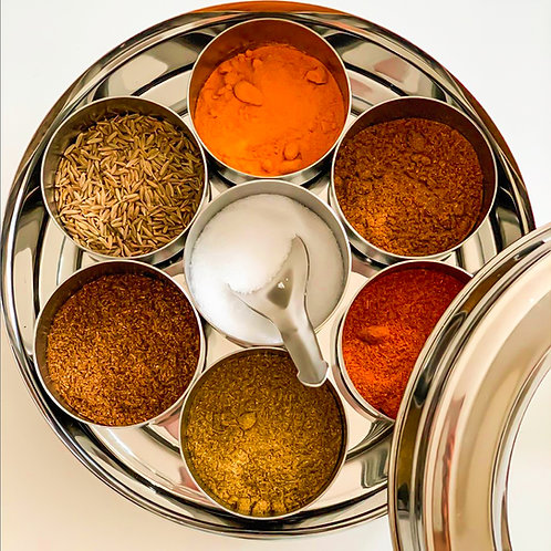 Stainless Steel Spice Tin   Masala Dabba