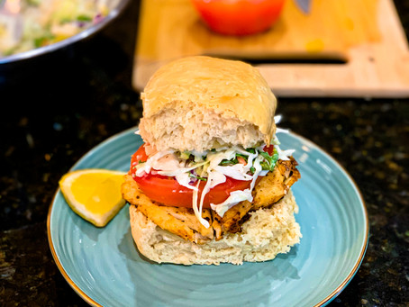 15-Minute Blackened Fish Sandwich