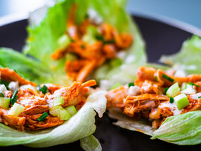 Healthy Buffalo Chicken Wraps | Recipe for Buffalo Chicken Lettuce Wraps