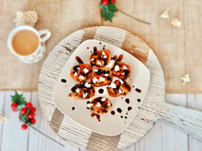 Butternut Squash Crostini with Goat Cheese & Balsamic Drizzle