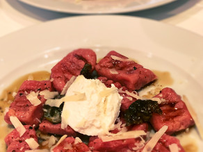 Beetroot Gnocchi with Ricotta in a Brown Butter Sauce