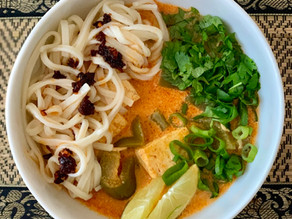 Red Curry with Tofu & Rice Noodles