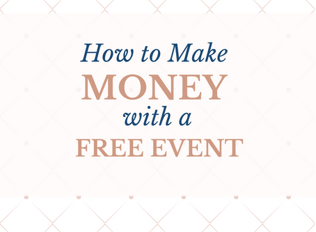 How to Make Money With a Free Event