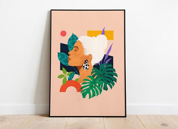 "Art print ""Tropicana"" by Suzanne Dias"