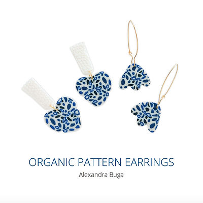 Organic pattern earrings tutorial cover