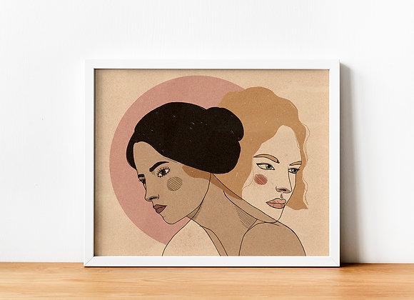 "Art print ""Sisterhood"" by Martina Francone"