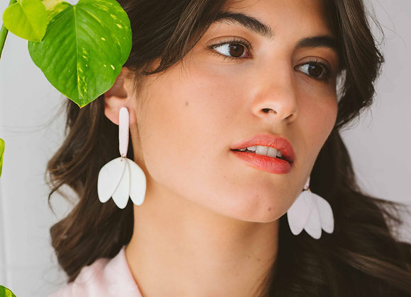 Flora drop earrings - Black Tropicana