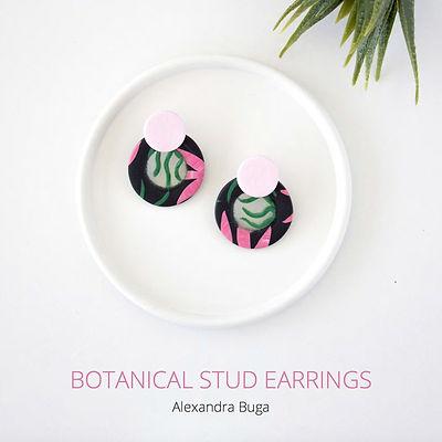 Botanical stud earrings tutorial cover i