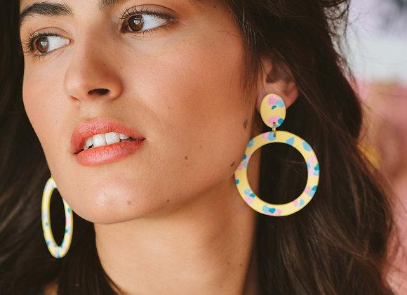 Felicia big hoop earrings - Black Tropicana