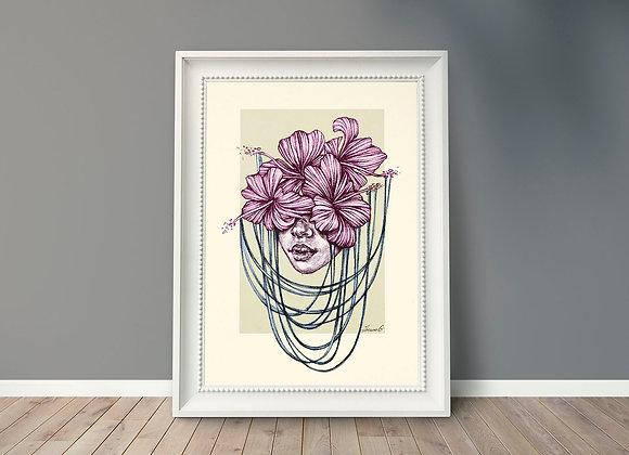 """Art print """"Florid Eyes"""" by Theano Giannezi"""