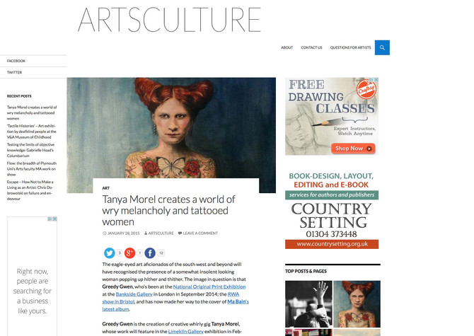 Artsculture article