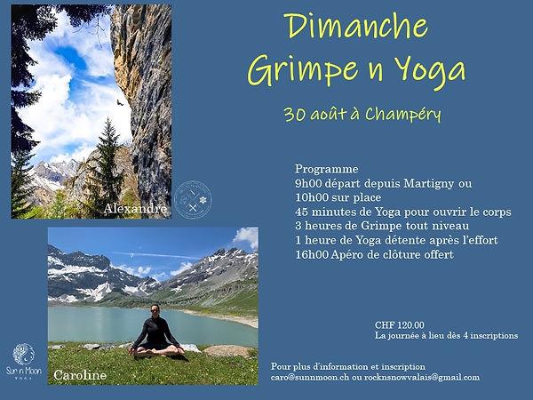 grimpe et yoga valais