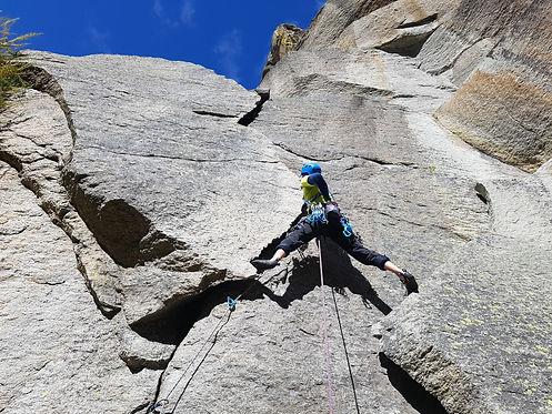 Cours de grimpe trad