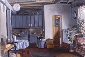 "Ninth Street Interior 2  16"" x 24"" 2001"