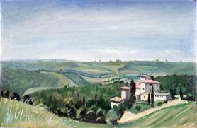 "Tuscan Panorama Study* 8"" x 12"" 1996"