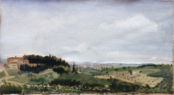 "Tuscan Landscape 1 18.5"" x 34.5"" 1996"