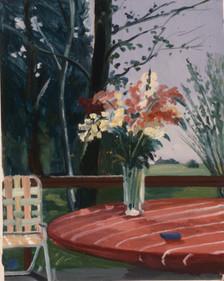 "Bridgehampton Flowers 2  20"" x 25"" 1976"