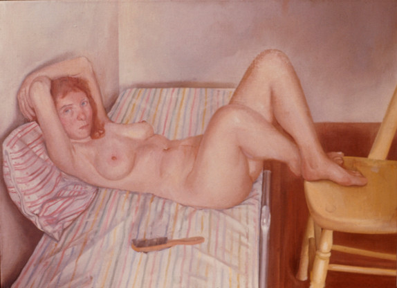 "Reclining Nude *  36"" x 48.5"" 1970"