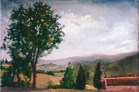 """View From la Fornace 21"""" x 34"""" 1992"""