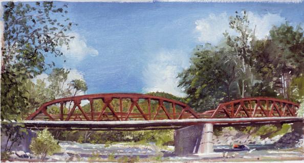 "Upstate Bridge 8.5"" x 16.5"" 1978"