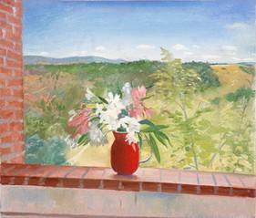"Tuscan Flowers 2  8"" x 10"" 1992"