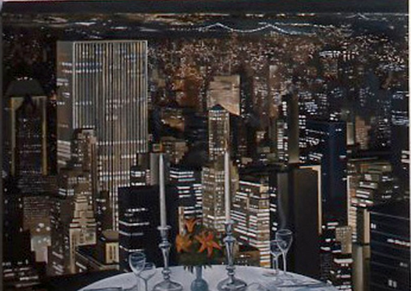 "New York View*  44"" x 60"" 1981"