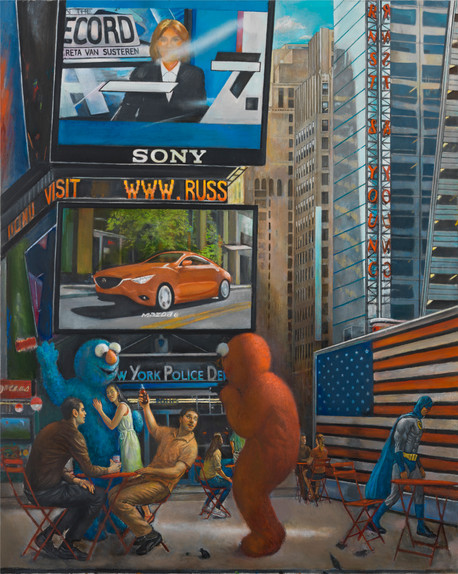 "Times Square 2 60"" x 48"" 2015"