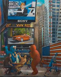 "Times Square 2 60"" x 48"" 2015"