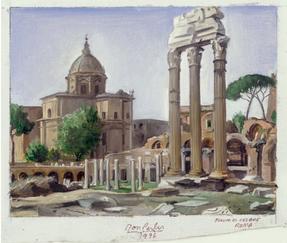 """Forum di Cesare  6"""" x 8"""" 1996"""