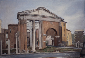 "Roman Temple Study 12"" x 17"" 1996"