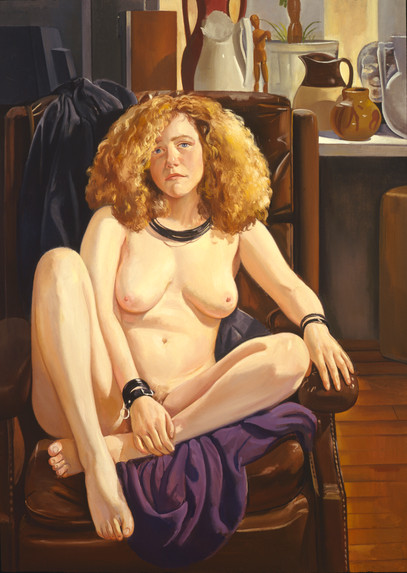 """Seated Woman  72"""" 52"""" 1989"""