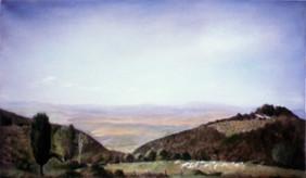 "Tuscan Panorama 2* 18.5"" x 34.5"" 1996"