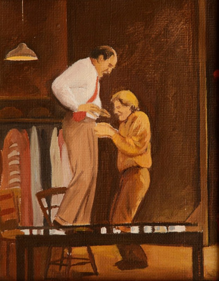 """F. Murray Abraham /Life In The Theatre 1*  36"""" x 20"""" 1992"""