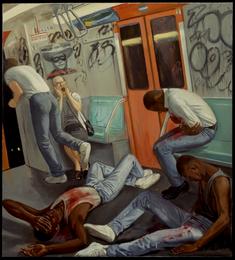 "Incident - Center Panel  84"" x 76"" 1988"