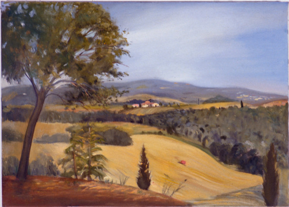 """View From Fornace 2* 10"""" x 12"""" 1992"""