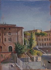 """Roman Street*  12"""" x 6"""" 1996"""