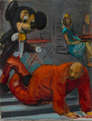 "Mickey vs Elmo 10"" x 7 3/4"" 2015"