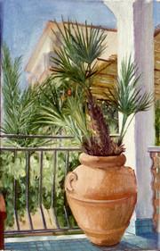 "Sicilian Palm*  10"" x 6"" 1992"