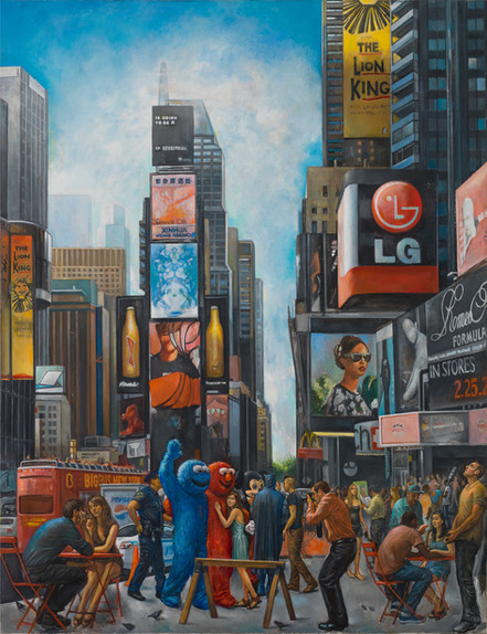 "Times Square 1 60"" x 46"" 2015"