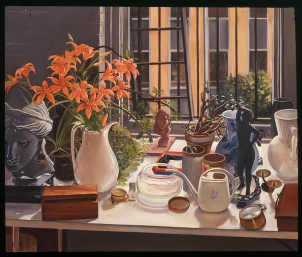 "Still LIfe With Tiger Lilies  50"" x 60"" 1982"