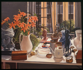 """Still LIfe With Tiger Lilies  50"""" x 60"""" 1982"""