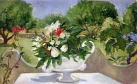 "Sicilian Flowers 5*  8"" x 16"" 1992"