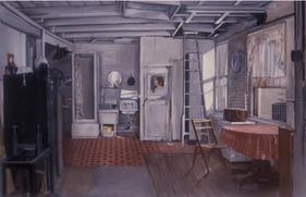 "Ninth Street Interior 3*  24"" x 36"" 2001"